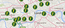 Map of Foxtons offices