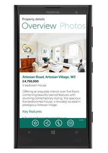 WP8 property app