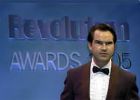 Jimmy Carr at the Revolution Awards in London