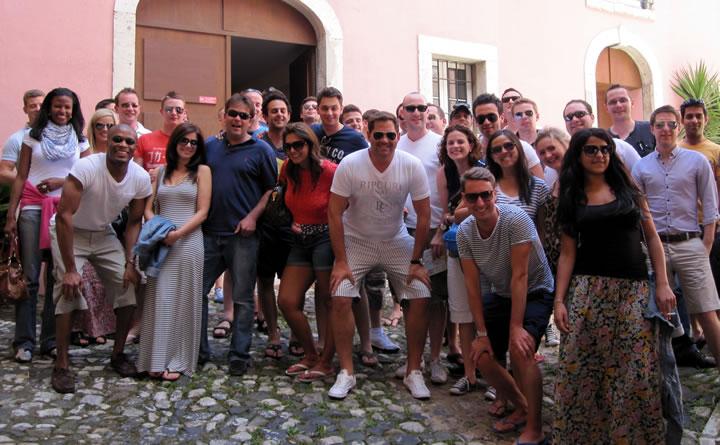 The trip winners in Lisbon