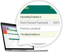 Online statements for landlords