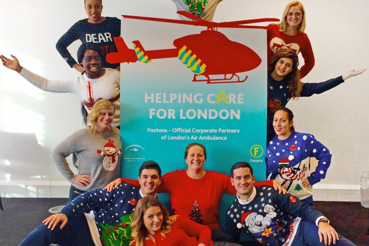 Christmas Jumper Day at Foxtons