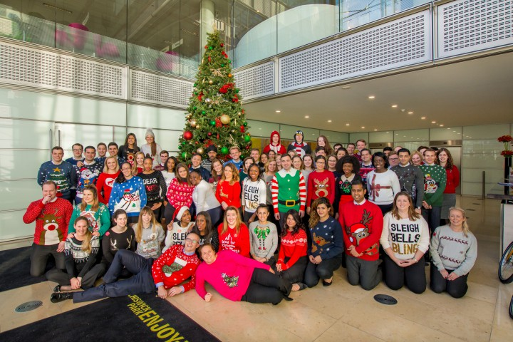 Foxtons Head Office Christmas Jumper Day
