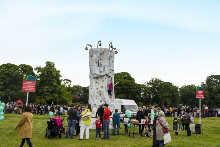 The Climbing Wall, sponsored by Foxtons