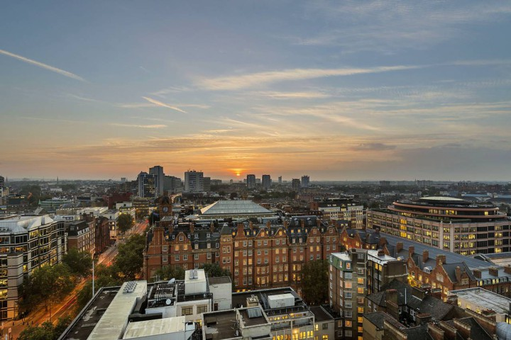 Sunset view over Marylebone