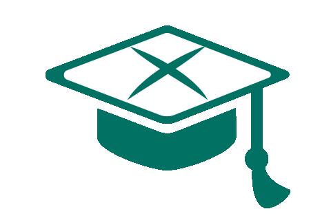 graduation cap cross