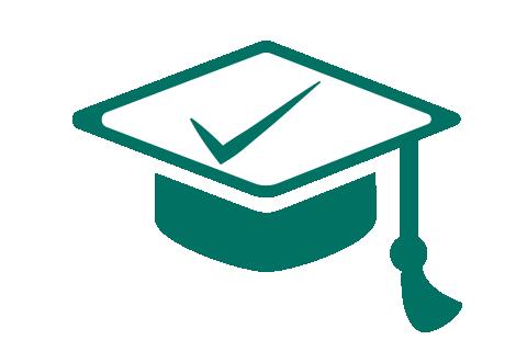 graduation cap tick
